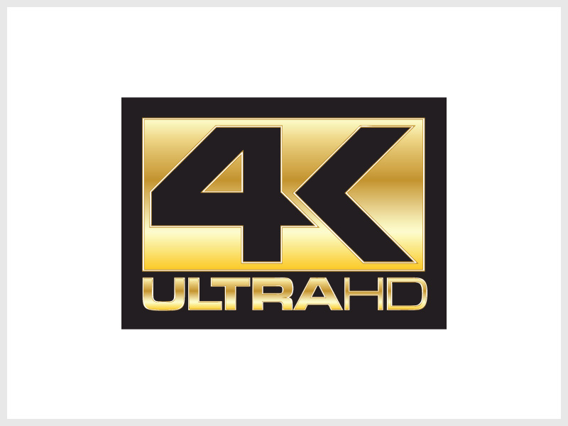 4K Ultra HD Logo 2 Wallpaper