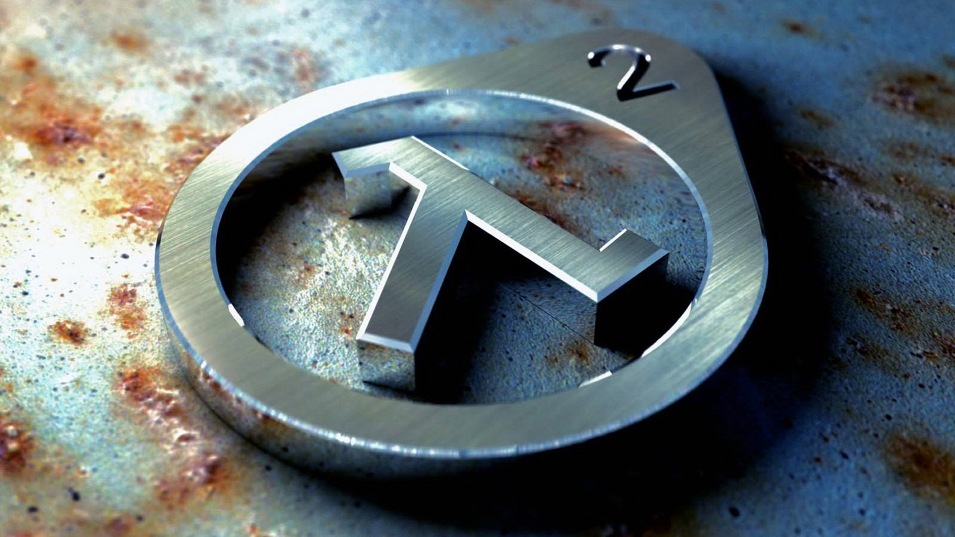 Half-Life 2 Metall Logo Wallpaper