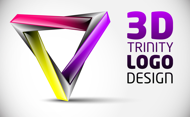 3D Triniti Logo Wallpaper