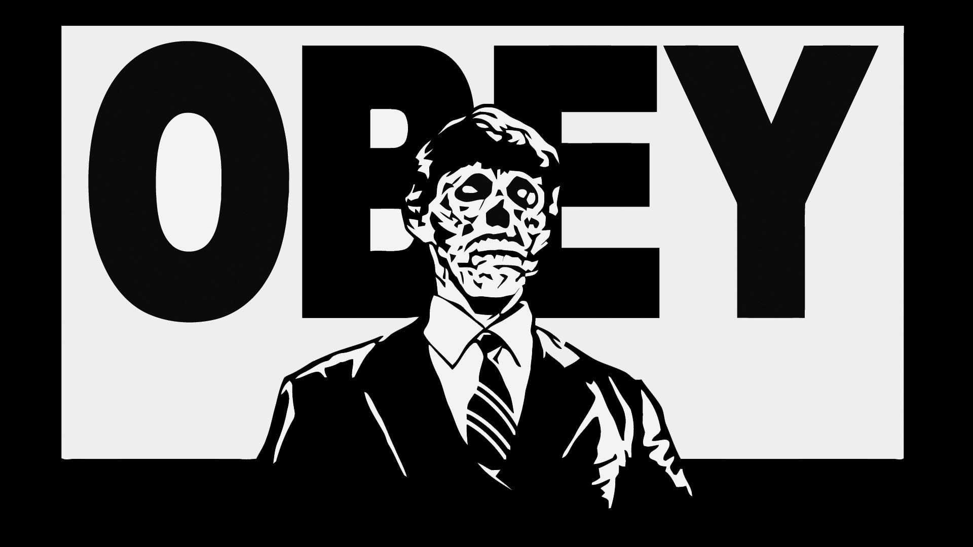 Obey Skeleton Logo Wallpaper