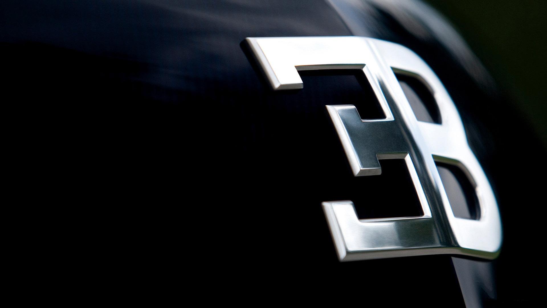 Bugatti Logo 3D Wallpaper