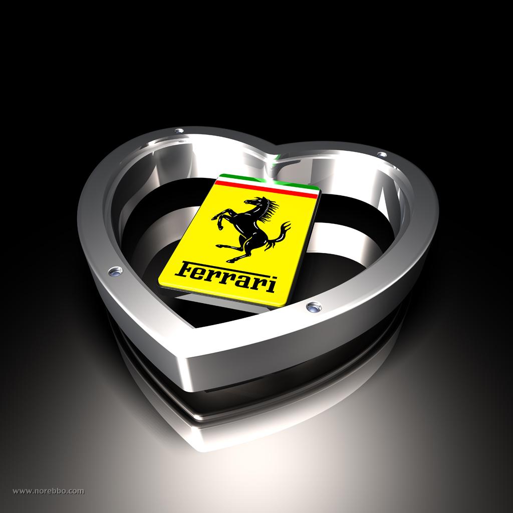 Ferrari Logo 3D Wallpaper