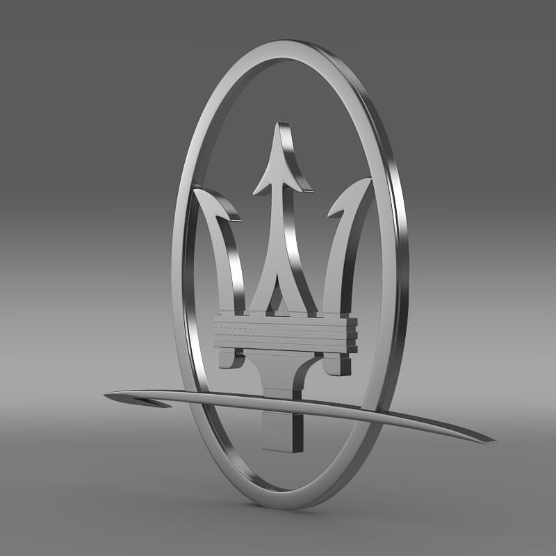 Maserati Logo 3D Wallpaper