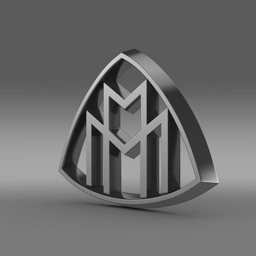 Maybach Logo 3D Wallpaper