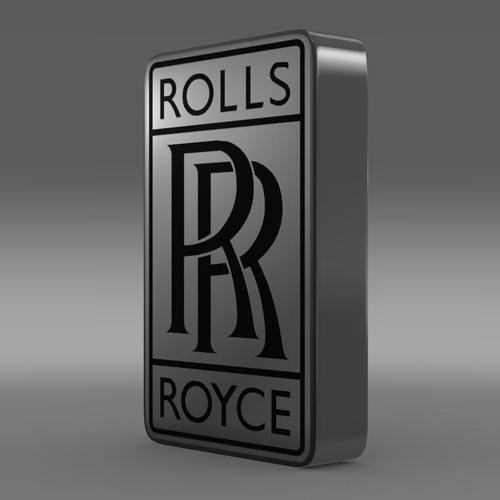 Rolls Royce Logo 3D Wallpaper