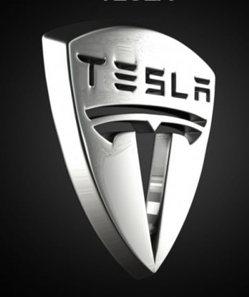 Tesla Logo 3D Wallpaper