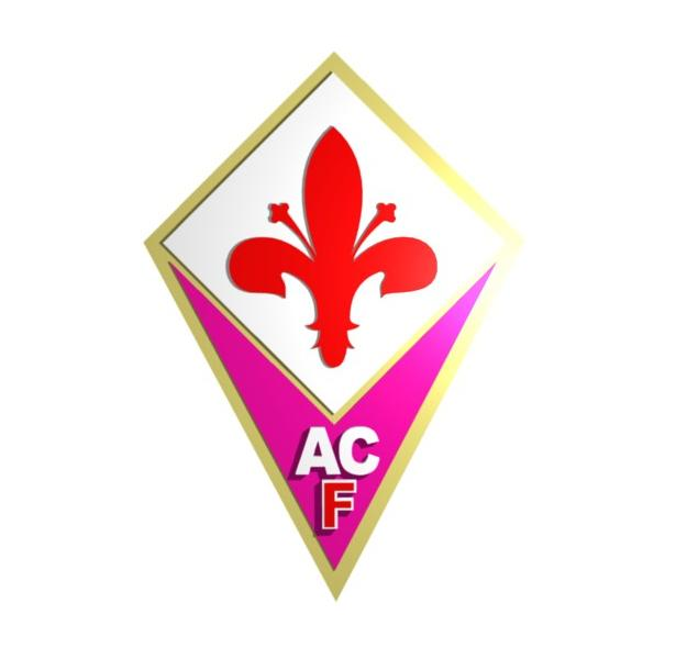 ACF Fiorentina Logo 3D Wallpaper