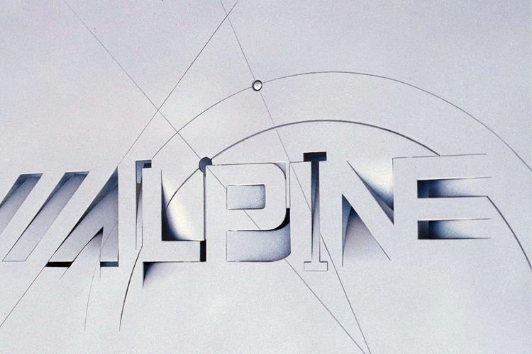 Alpine graphic design Wallpaper