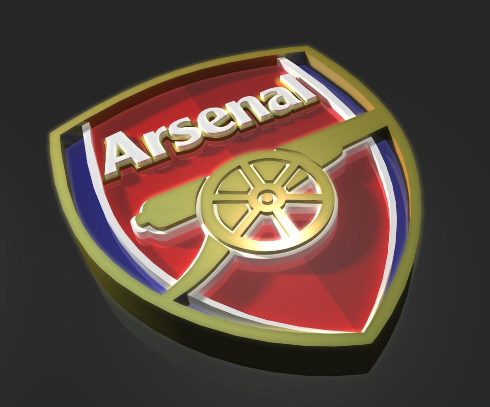 Arsenal FC Logo 3D Wallpaper