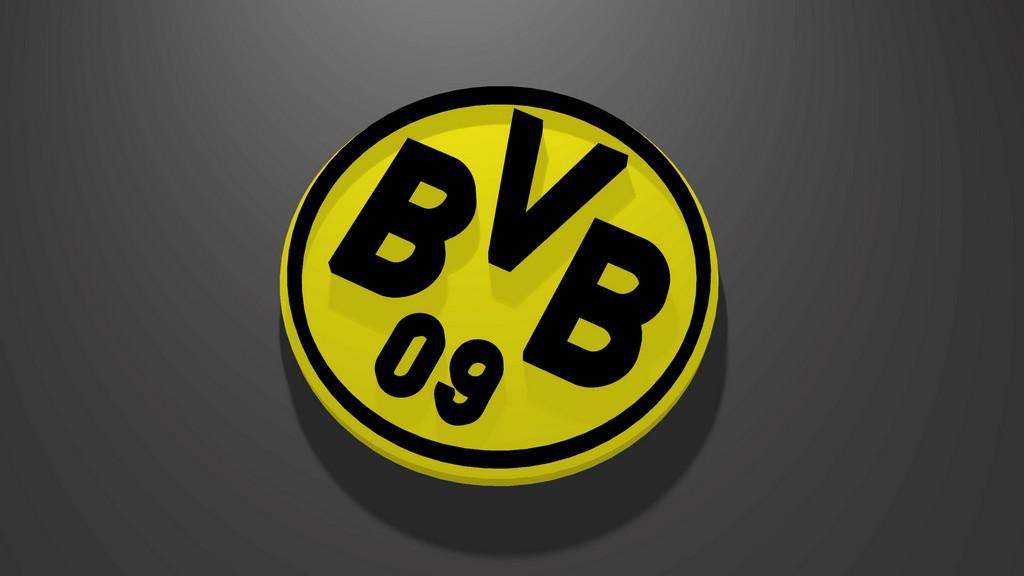 Borussia Dortmund Logo 3D Wallpaper