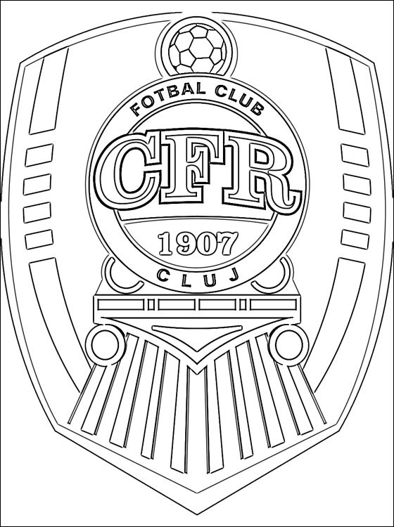 CFR 1907 Cluj Logo Wallpaper