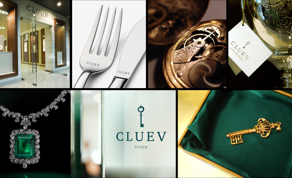 Cluev Jewelry Logo 3D Wallpaper