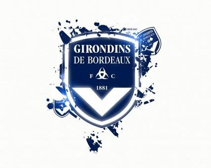 FC Girondins de Bordeaux Logo 3D Wallpaper
