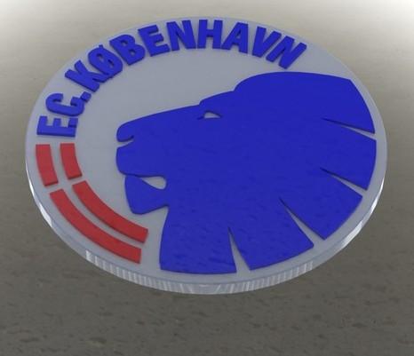 FC Kobenhavn Logo 3D Wallpaper