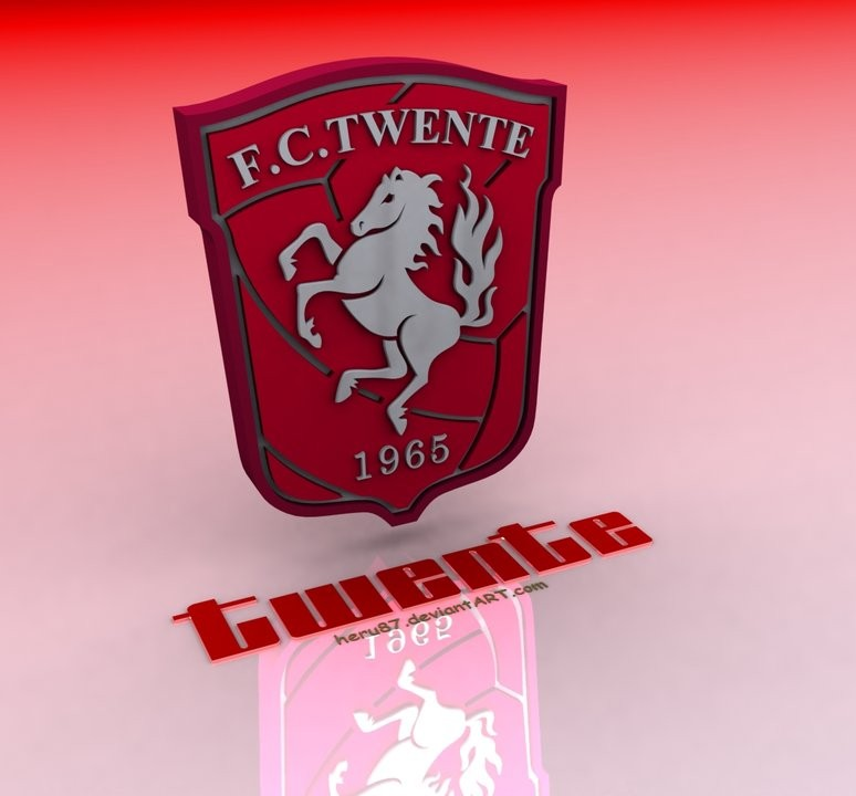 FC Twente Logo 3D Wallpaper