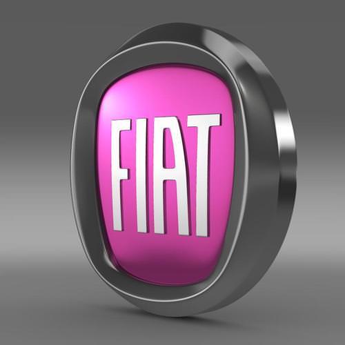 Fiat Logo 3D Wallpaper