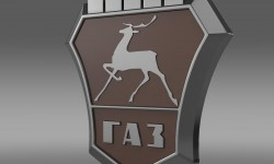 Gaz logo 3D