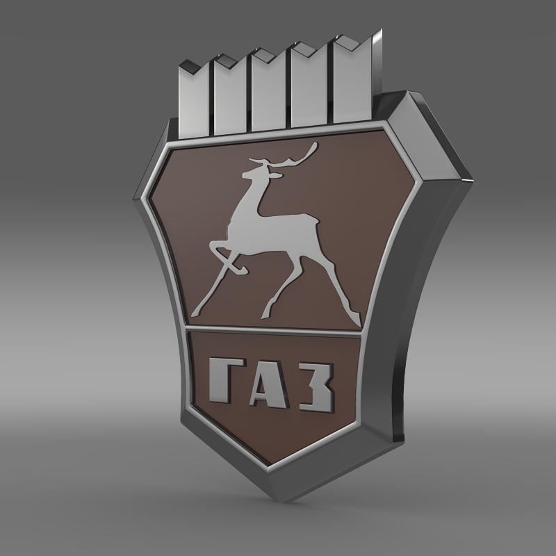 Gaz logo 3D Wallpaper