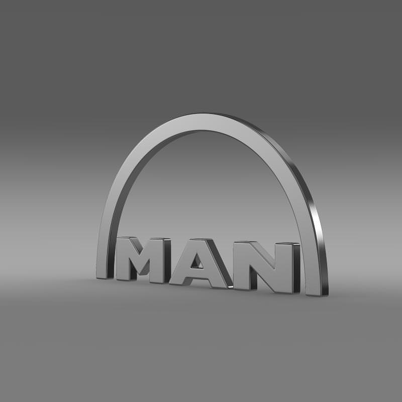 MAN Logo 3D Wallpaper