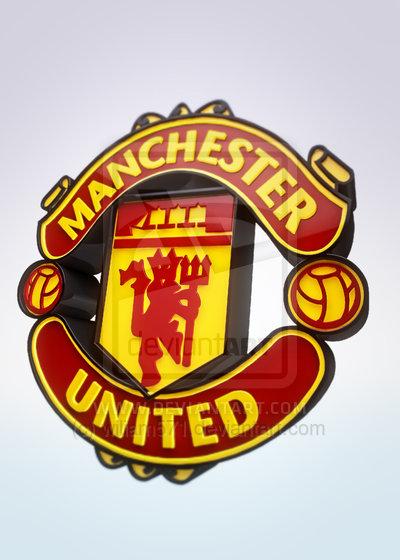 Manchester United FC Logo 3D Wallpaper