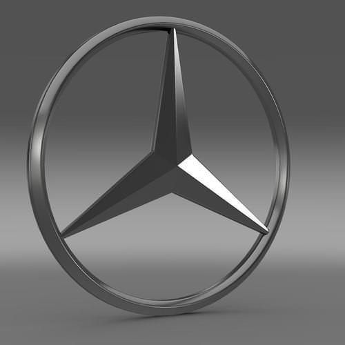 Mercedes Logo 3D Wallpaper