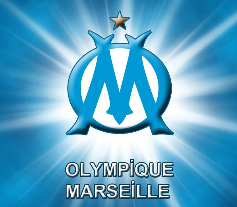 Olympique de Marseille Logo 3D Wallpaper