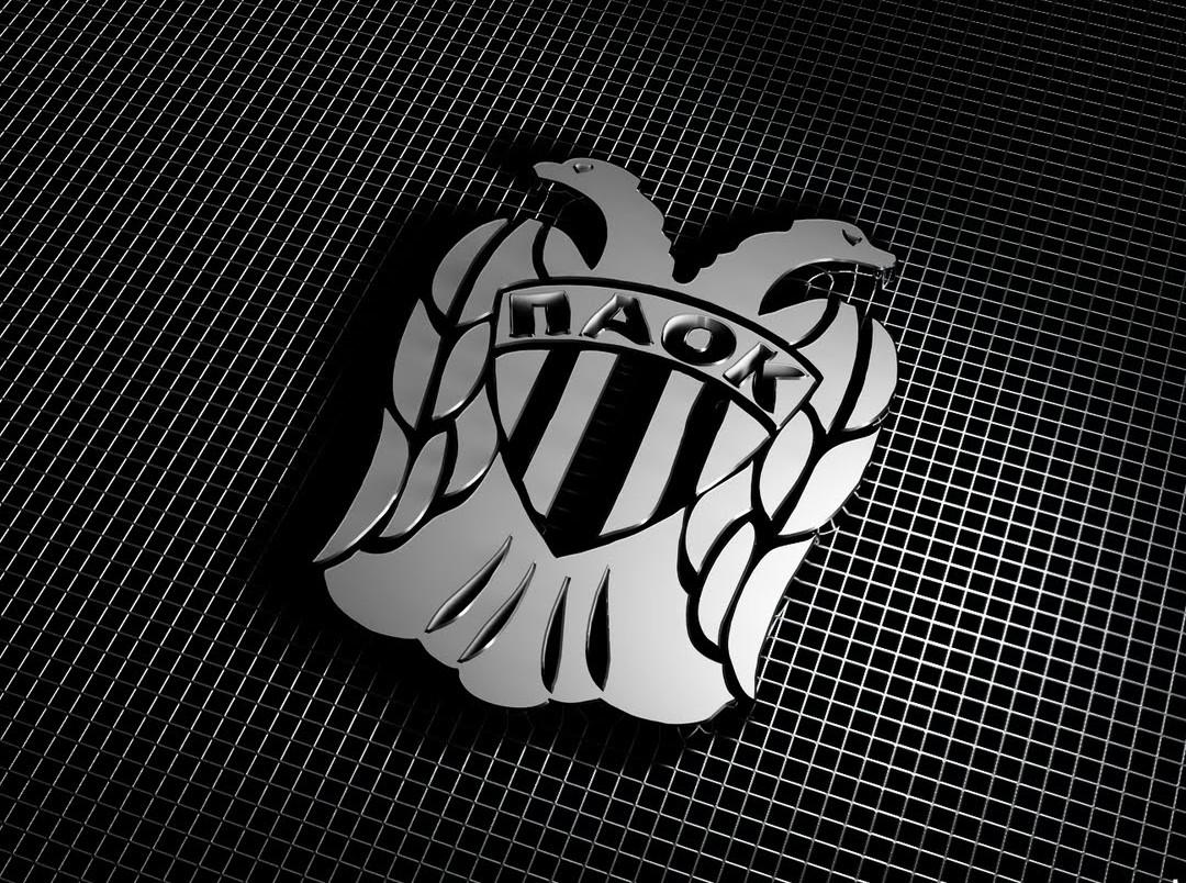 PAOK FC Logo 3D Wallpaper