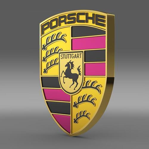 Porsche Logo 3D Wallpaper