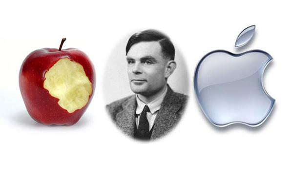 Alan turing Apple logo Wallpaper