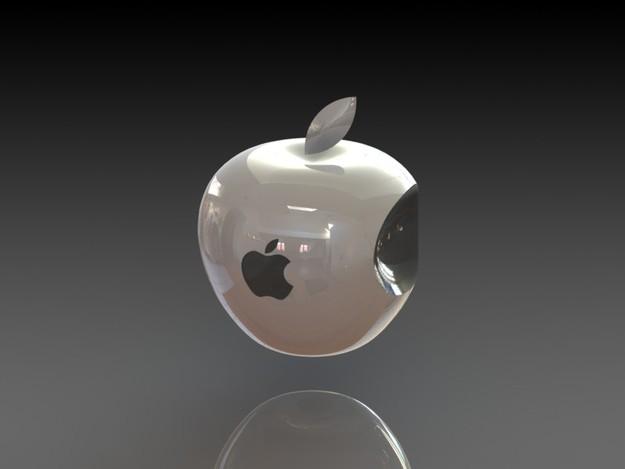 Apple logo 3D Wallpaper