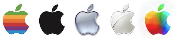Apple logo evolution Wallpaper