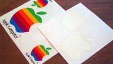 Apple logo stickers