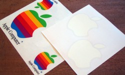 Apple logo stickers