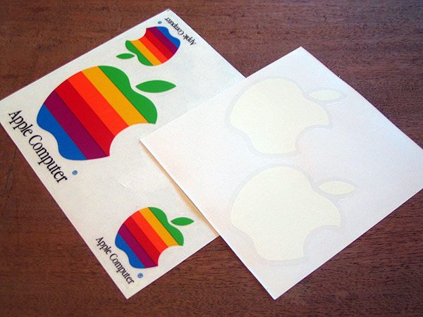 Apple logo stickers Wallpaper