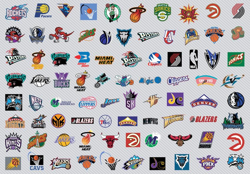 Basketball logos Wallpaper