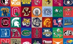 College football logos