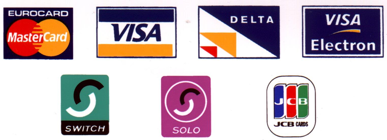 Credit card logos Wallpaper