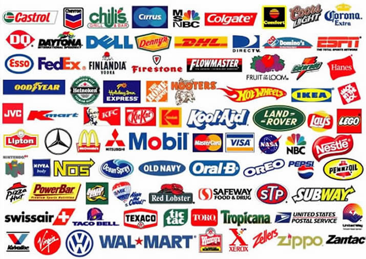 Logos for companies Wallpaper