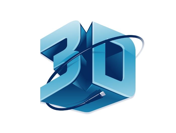 3D logo Wallpaper