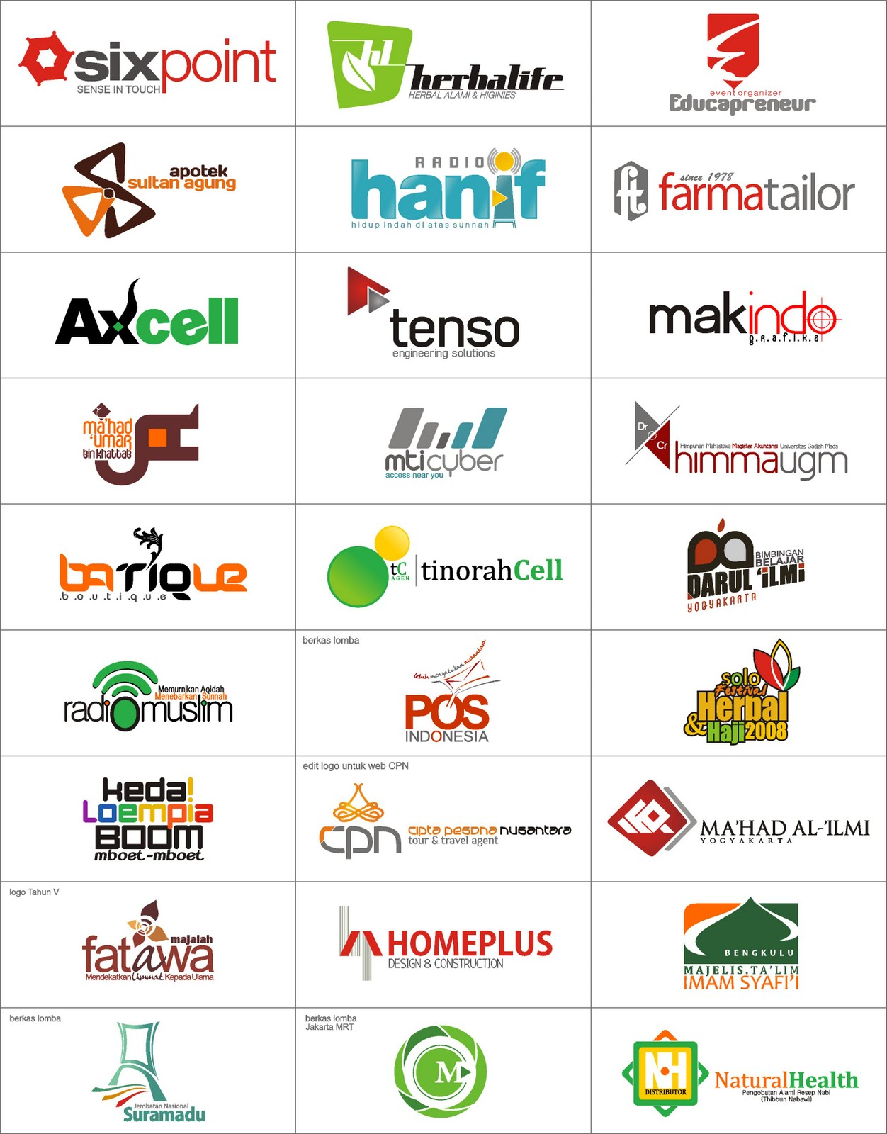 Examples of logos Wallpaper