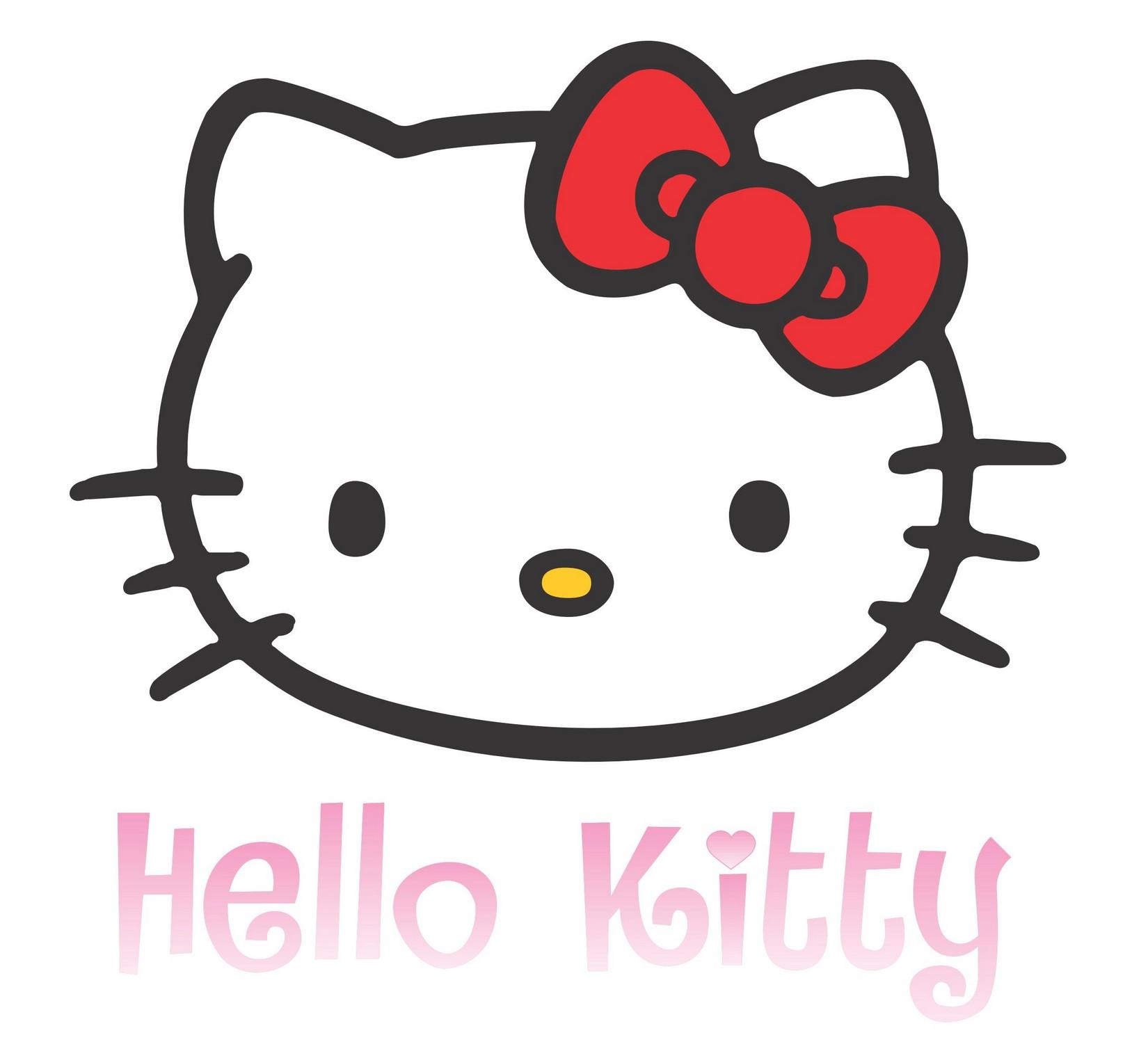 Hello kitty logo Wallpaper