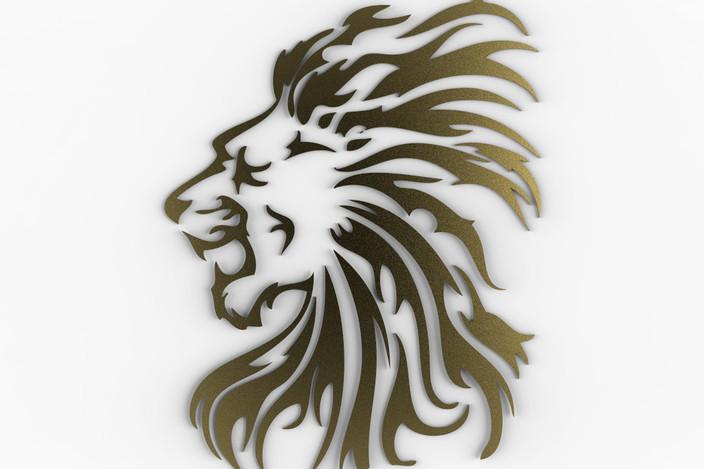 Lion 3D logo Wallpaper