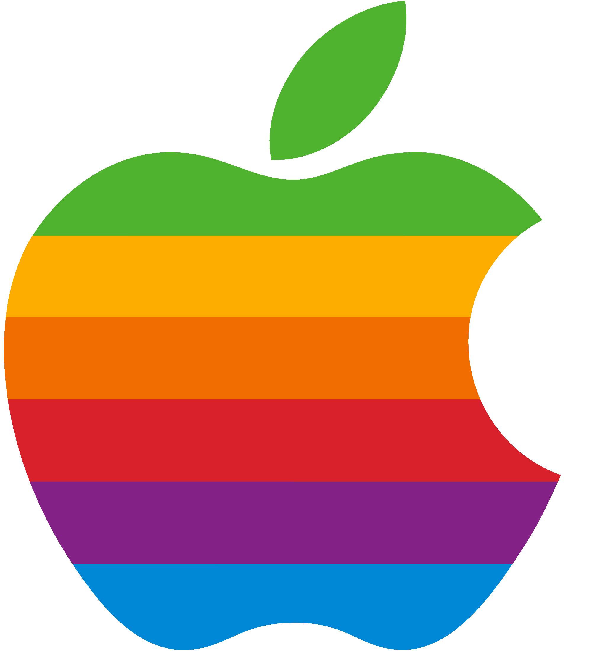 Rainbow Apple logo Wallpaper