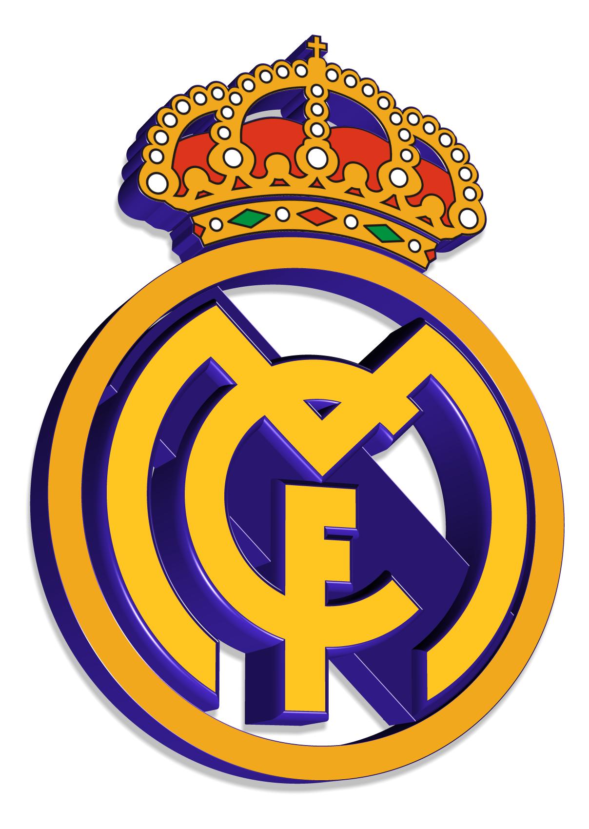 Real Madrid logo 3D Wallpaper
