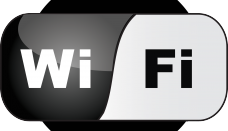 WiFi Black Logo Vector
