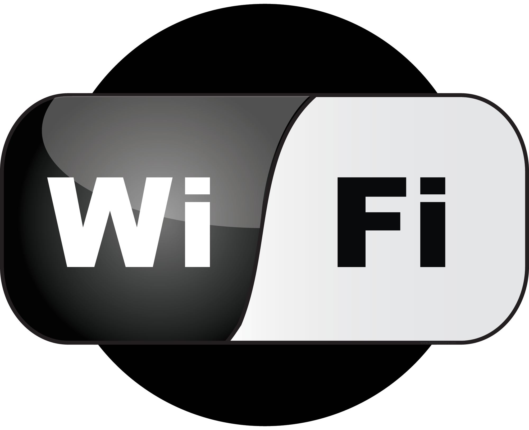 WiFi Black Logo Vector Wallpaper