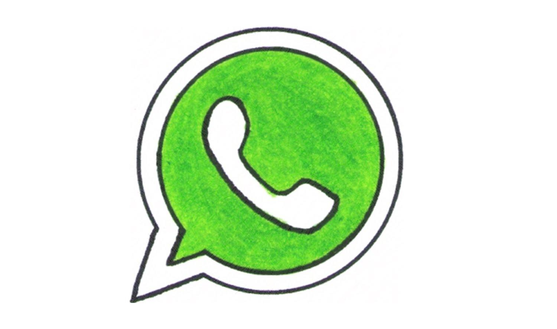 Whatsapp Drawn Logo Wallpaper
