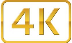 4K Gold Logo
