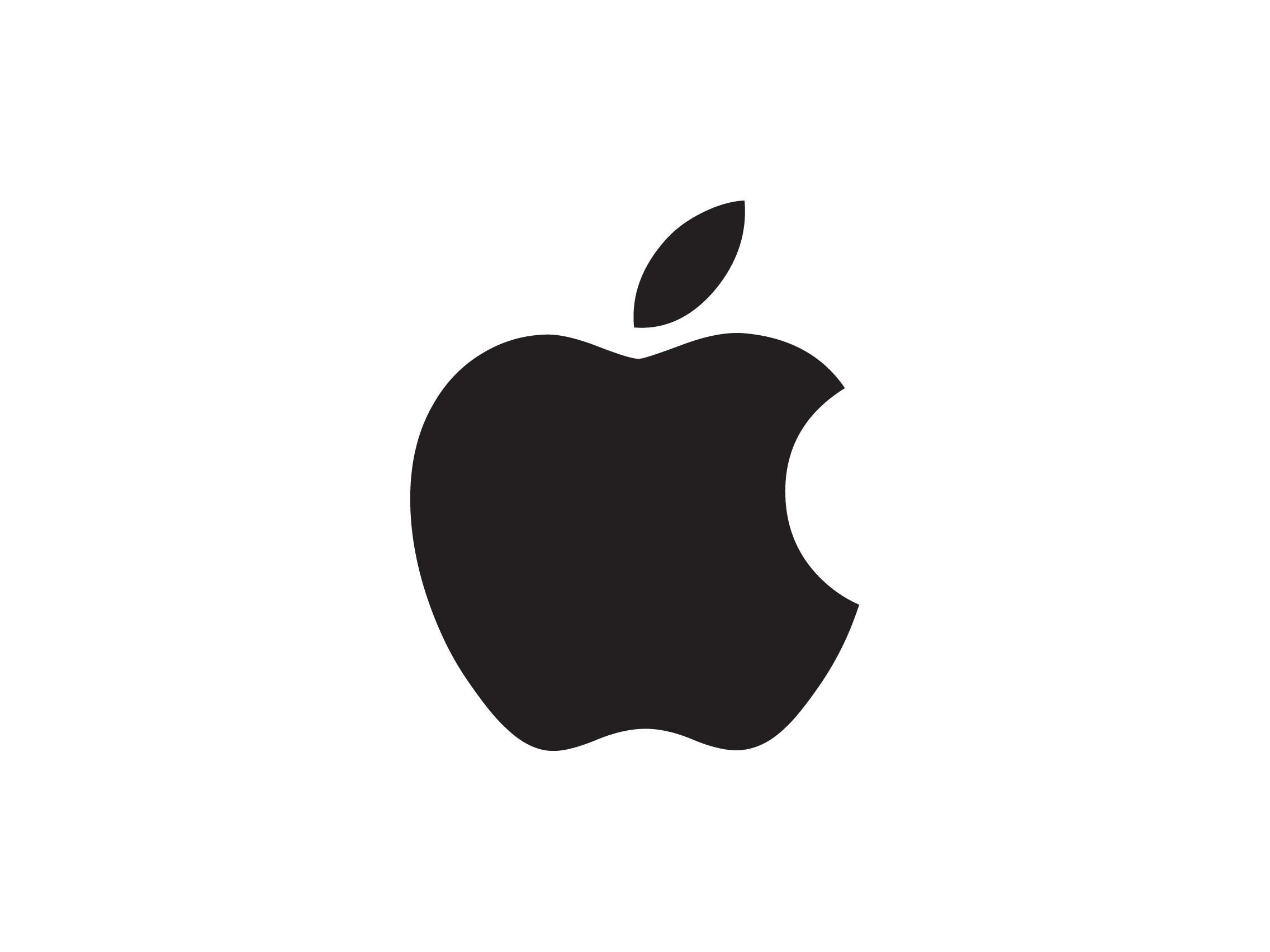Apple Black Logo Wallpaper