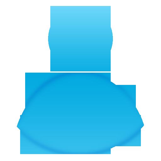 User Blue Logo Wallpaper